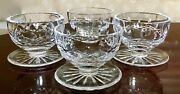 """Qty 4 Waterford Crystal Lismore 3""""t Footed Dessert Bowl W/ Attached Underplate"""