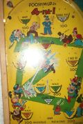 1930s Northwestern Products Poosh-m-up-jr 4-in-1 Table Top Pinball Game Usa