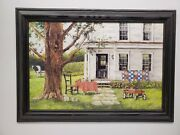 John Ward Country Memories Framed Farmhouse Quilt Wagon 12x18 Wall Picture