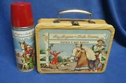 Unused Vintage Roy Rogers Dale Evans Double R Bar Ranch Metal Lunchbox And Thermos