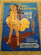 Original French Folded Movie Poster Seven Year Itch - Marilyn Monroe - 45.75x62andrdquo