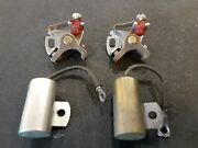 2 Contact Points And 2 Condensers Champion Majestic Sea Flyer Usa Outboard