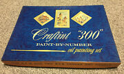 Vintage Paint By Number Kit - Craftint 300- Set Of 3 French Panels 1958