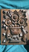 """Hand Carved Wall Decor """"roses"""" Size 17 X 13 X 2 Solid Wood-mahogany"""