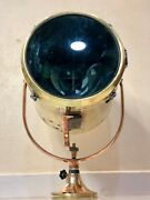 Original Authentic Maritime Brass Salvage Ship Polished Signal Spot Search Light