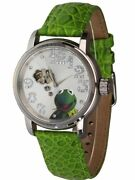 Disney Watch Muppet Show Kermit The Frog Automatic Unisex Wrist Boxed