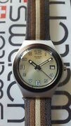 Swatch Automn Tint Ygs4015 2003 Irony Big 37mm Stainless Steel Leather