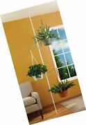 Spring Tension Rod Indoor Plant Pole With 3 Adjustable Arms