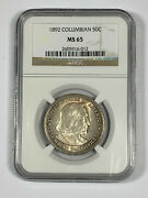 1892 Ngc Ms65 Classic Commemorative Columbian Half Dollar Coin-price Guide 350