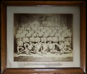 Antique Chicago Il 1894 Slovak American Flag Athletic Sokol Club Young Men Photo
