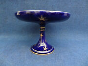 Genuine Sevres Coupe Cobalt Blue Coral Ground With Gilt Ice Stars 1905 France