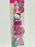 Hello Kitty Pink Firefly Toothbrush Soft Suction 3d Cap Travel Kid / Child