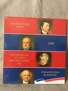 2008 United States Mint Presidential One Dollar Coin Uncirculated Set