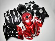 Candy Red Black Abs Injection Fairing Kit Fit For 2008-2016 Gsxr1300 Busa Gen 2