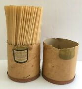 Marvin Stone Box Original Inventor Of Historical Julep Paper Straw 1888