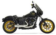 Bassani Road Rage Ripper 2 Into 1 Chrome Short Exhaust System Pipe Harley Dyna