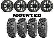 Kit 4 Sti Roctane Xd 32x10-14 On A71mb Mamba Race Beadlock Black Nar Fxt