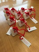 Squeeze My Cheeks Googly Eyed Santas Set Of 10 Hershey Kiss Holder/ornament