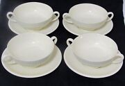 Wedgwood Edme Old Mark Scalloped Platter Creamer Soup Bowls W/handles And Saucers