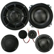 Morel Elate Carbon Pro 53a Active 5-1/4 3-way Component Speakers No Crossovers