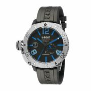 U-boat Sommerso Diver Menand039s Automatic Watch Blue Silicone Strap