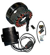 Cycle Electric 50 Amp Stator Regulator Charging System Harley Flh 09-10 No Coole