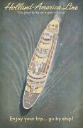 Holland-america Line Itand039s Good To Be On A Well-run Ship 1950s Dutch B1 Poster