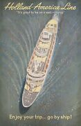 Holland-america Line It's Good To Be On A Well-run Ship 1950s Dutch B1 Poster