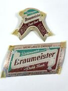 Vintage Beer And Neck Label Braumeister Milwaukee Wisconsin Foil 12oz