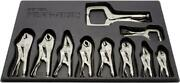 10-piece Irwin Vise Grip Set Locking Pliers Curved Jaw Wire Cutter Vice-grip New
