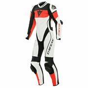 Dainese Imatra Perforated Womens 1-pc Leather Motorcycle Suit White/red