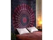 Large Indian Peacock Mandala Tapestry Wall Hanging Bedspread Throw Dorm Decor
