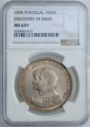 Portugal 1000 Reis 1898 Ngc Ms63+ 400th Anniversary - Discovery Of India