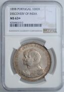 Portugal 1000 Reis 1898, Ngc Ms63+, 400th Anniversary - Discovery Of India