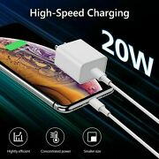 Lot Pd 20w 5/10/20/50/100 Fast Charger Usb-c Power Adapter For Iphone 12 11 8 Xr
