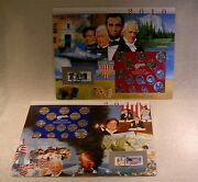 2010 Uncirculated P And D Mint Sets - Postal Commemorative Society Coin And Stamp