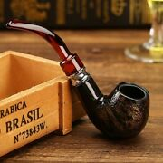 Smoking Pipe Snake Scale Resin Chimney Double Filter Wood Herb Tobacco Cigar New
