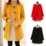 Women Winter Fall Duffle Coat Peacoat Jacket Ladies Button Overcoats Outwear Top
