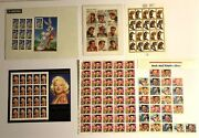 Lot 6 Stamp Pieces Collections Marilyn Monroe, Elvis Presley,