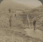 Stereoview 1901 Gold Rush Mining Miners Klondike Canada Stereoscopic Canadian