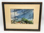 Thriftchi Watercolor Art By Marguerite Van Waldron Titled Eminent Domain
