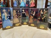 Lot Of 5 Disney Fairytale Designer Good And Evil Le Dolls With Matching Bags