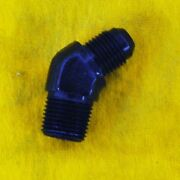 45 Degree Adapter 8 An To 1/2 Npt Fitting Black