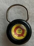 Quality Farm And Fleet Advertising Keychain Feed Seed Agriculture Farming Nice