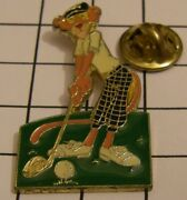 Pink Panther Playing Golf 1989 United Artists Pictures Inc. Vintage Pin Badge