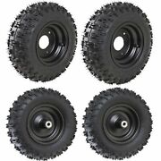 4pc Front + Rear 4.10-6 6 Inch For Go Kart Atv Tires Mower Lawn Blower