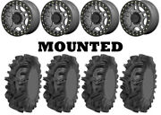 Kit 4 Sedona Mudder Inlaw Tires 32x10-14 On Kmc Ks240 Recon Beadlock Gray Can