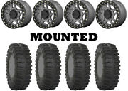Kit 4 System 3 Xt300 Tires 33x10-15 On Kmc Ks240 Recon Beadlock Gray Wheels Fxt