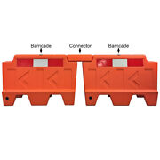 Low Profile Stackable Water Filled Traffic Barriers - Electriduct