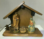 Anri 3kuolt 3 Pc. Creche Nativity With Stable New Mint Condition